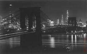BroBrooklyn Bridge at Night, 1948 Gelatin Silver, by Andreas Feininger