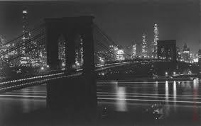 BroBrooklyn Bridge at Night, 1948 Gelatin Silver, by Andreas Feininger