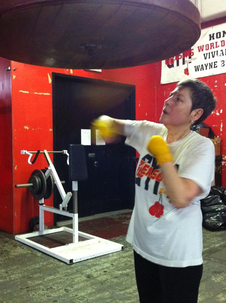 Boxing at Gleason's Gym. Credit: Malissa Smith