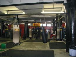The heavy bags at Gleason's Gym
