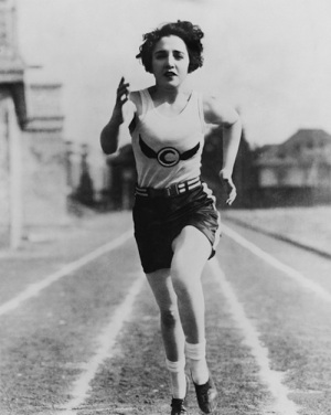 Woman running 1920s, Credit: Baltimore Fishbowl