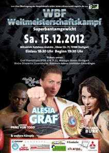 Alesia Graf Fight Poster 12/15/12