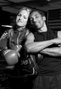 Heather Hardy and Trainer, Devon Cormack, @ Gleason's Gym, December 2012