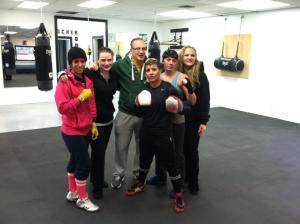 Shelito Vincent and her team @ Manfredo Boxing and Fitness