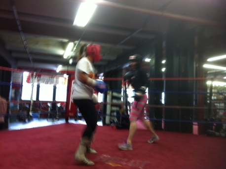Heather Hardy & Melissa Hernandez, Gleason's Gym, December 2012, Credit: Malissa Smith