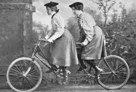 Tandam Bicycle, circa 1900, Credit: gryphonsbicyclerepair.blogspot.com