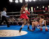 Kiesher Mcleod Wells 3rd round knock down of Patricia Alcivar, Credit: Marty Rosengarten