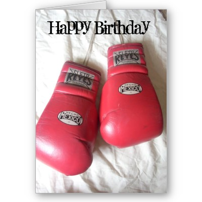 Happy Birthday Boxing Gloves