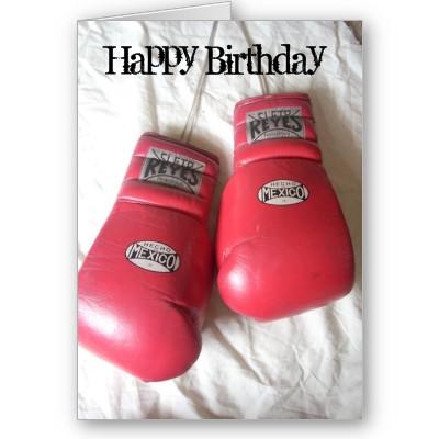 Happy Birthday Boxing Gloves