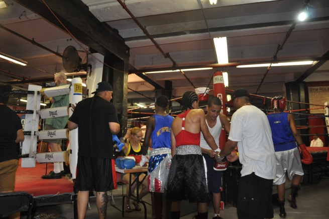 Gleason's Gym - Gloving Up, Jul 19, 2013