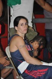 Gleason's Gym, Christina Cruz waiting for her fight, July 19, 2013