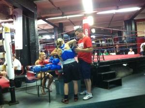Gleasons Gym.Gloving Up.07192013