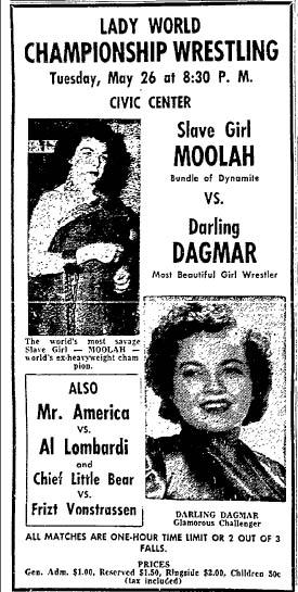 1953 Wrestling Poster