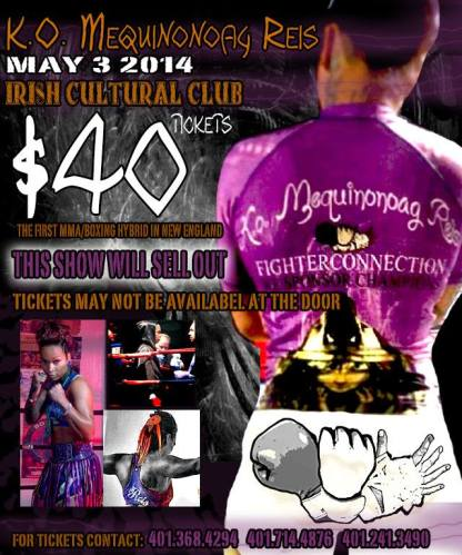 Kali Reis fights on May 3, 2014 at the Irish Cultural Center in Canton, MA.