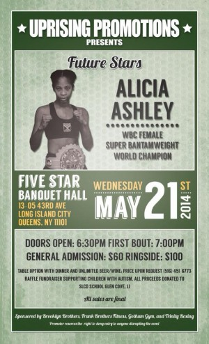 "Alicia ""Slick"" Ashley fighting on May 21, 2014"