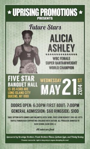 "Alicia ""Slick"" Ashley fighting on May 21, 2014"