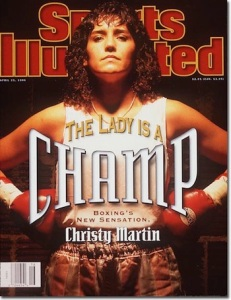 Christy Martin, Boxing April 15, 1996 x50289 Credit: Brian Smith- freelance