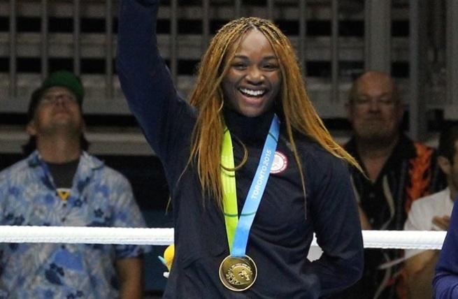 Claressa Shields Pan Am medal stand 800