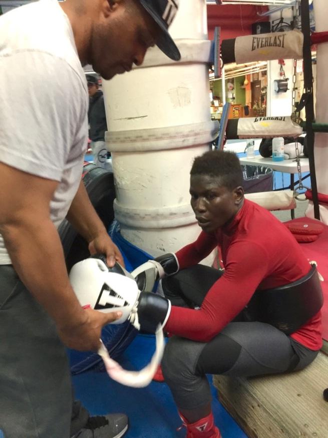 Danny Nicholas and Helen Joseph, Mendez Boxing, October 9, 2019, Photo Credit: Malissa Smith